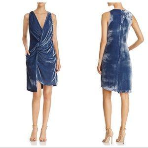 KENNETH COLE Velvet Twist Front Sleeveless Dress